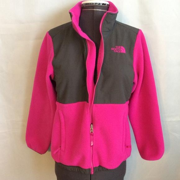 05fb29446 TNF Jacket GIRLS L 14 16 Pink Fleece Spring Zip